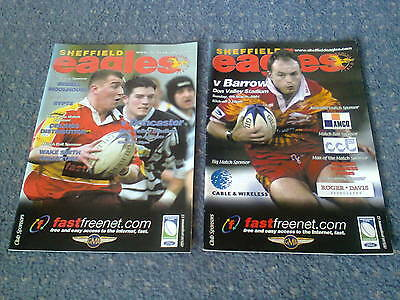 2 sheffield eagles rugby league programmes 2000s