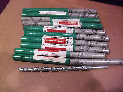 "TWELVE  !! Triumph 3/8"" x 8"" Carbide Tipped Masonry Drill Bits Made In USA"