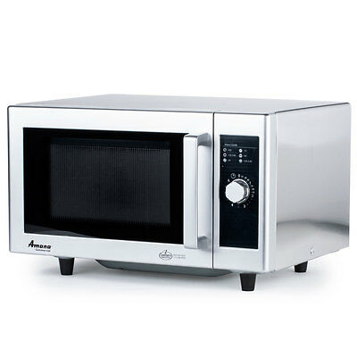 Amana 1000W Commercial S/s Microwave Oven 1 Power Level - Rms10Ds