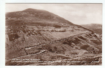 The Devil's Elbow Glenshee Perthshire 1935 Real Photograph Mackay Pitlochry