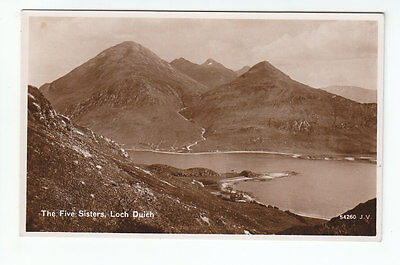 The Five Sisters Of Kintail Loch Duich Ross-shire Real Photograph Taken 1906
