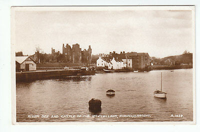 River Dee And Maclellans Castle Kirkcudbright 1935 Real Photograph Mackenzie