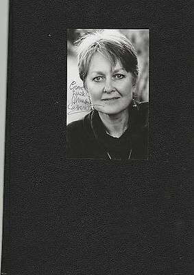 Anna Carteret Autograph signed Postcard size photo Juliet Bravo actress