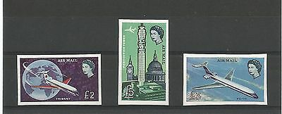 AIRMAIL Imperf £2- £5 MNH