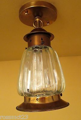 Vintage Lighting 1940s porch fixture by Lightolier. More Available