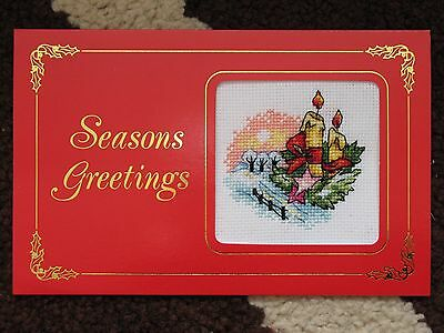 Ex Large Completed Cross Stitch Card Christmas