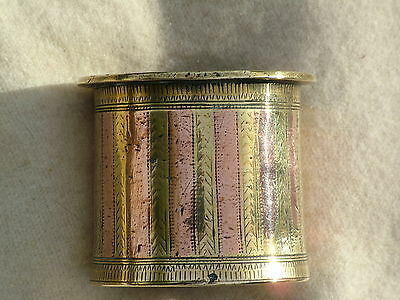 Small Heavy Brass Copper Cylindrical Pot Panchpatra South India