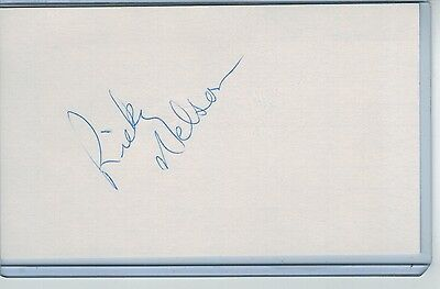 Ricky Nelson Index Card Signed 1983-86 Seattle Mariners Psa/dna Certified