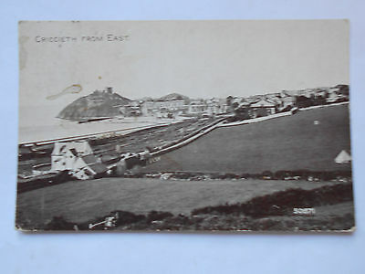 Criccieth from East old postcard posted 1931