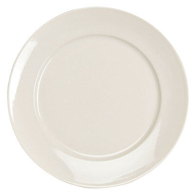 """Homer Laughlin 12132100 RE-21 12 1/4"""" Ivory ( White) China Plate - 12/Case"""