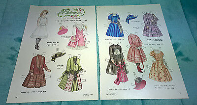 Florence ~ Paper Doll & Frocks ~ Delineator June 1887 ~ Pat Stall ~ Uncut 1984