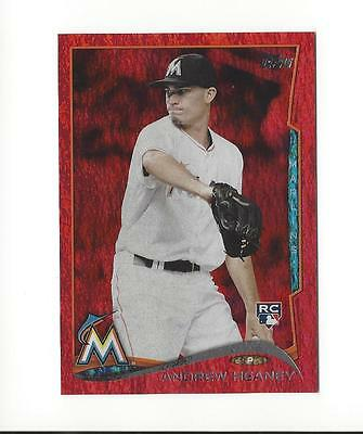 2014 Topps Update Red Hot Foil #US245 Andrew Heaney Rookie Marlins