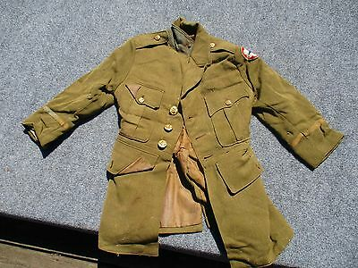 WWII USA UNIFORM JACKET with BRASS Buttons Patch VERY SMALL