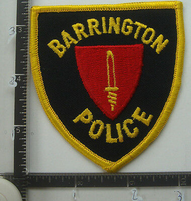 Barrington RHODE ISLAND Police Patch RI Old Obsolete