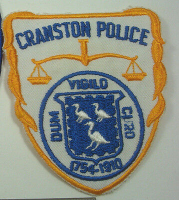 Cranston RHODE ISLAND Police Patch RI Old Obsolete town seal