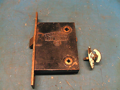 Genuine Antique Sargent & Co. Commercial Brass & Cast Iron Mortise Lockset Lock