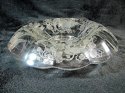 """Paden City """"peacock & Wild Rose"""" Archaic 14"""" Rolled Rim Console Bowl - Excellent"""