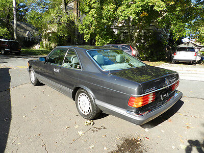 1990 Mercedes-Benz 500-Series Base Coupe 2-Door 1990 MERCEDES-BENZ 560 SEC COUPE MINT POWERFUL  GARAGED COLLECTOR RARE