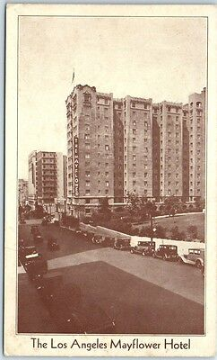Los Angeles Ca Postcard The Mayflower Hotel South Grand Avenue C1930s Unused