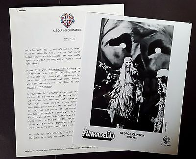Funkadelic Press Kit for One Nation Under A Groove George Clinton! Photo L93