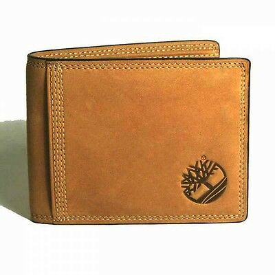 Timberland Sleeker Leather Mens Nubuck Coin Pocket Wallet New in Box