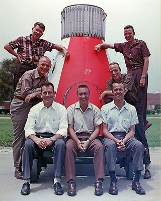 NASA Space Program Original 7 Mercury Astronauts With John Glenn Photo Picture
