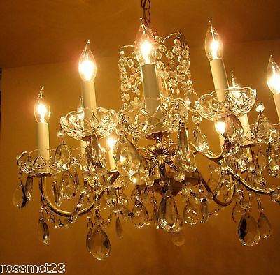 Vintage Lighting matching pair of glittering chandeliers