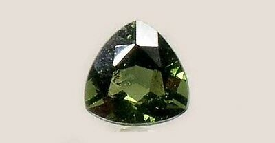 Rare 19thC Antique 1½ct Czech Moldavite Ancient Delphi Greece Apollo Temple Gem