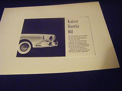 Kaiser Darrin 161 Dealer Brochure