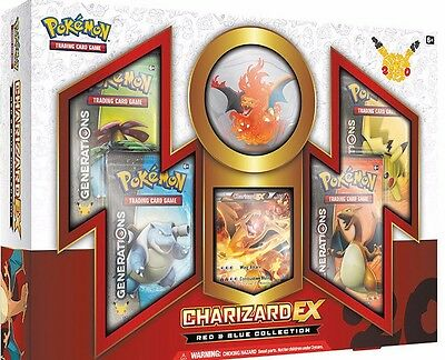 POKEMON CHARIZARD EX Red & Blue Collection Sealed Box  FREE SHIP to US & Canada