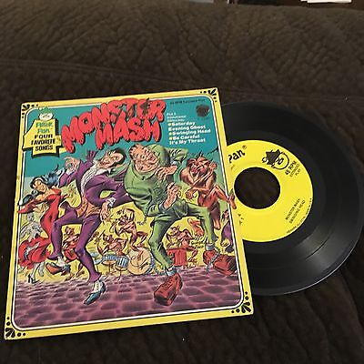 Monster Mash  45 RPM Record Peter Pan George Peed Cover