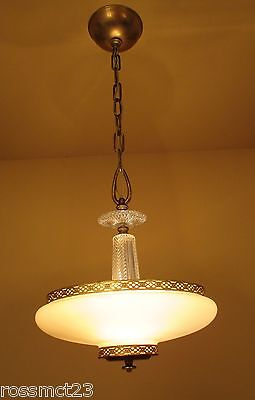 Vintage Lighting 1930s custard glass fixture by Lincoln