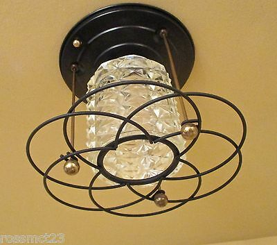 Vintage Lighting Mid Century Hollywood Regency foyer fixture. More Available