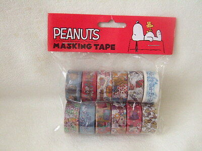 Snoopy tapes washi tape masking tape paper 12 tapes