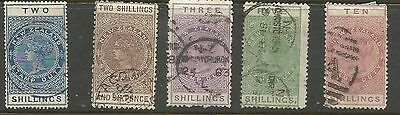 NEW ZEALAND 1880's+sel. to 10s stamp duties-used