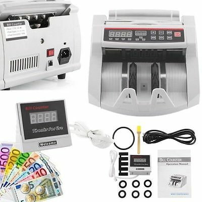 Bank Note Currency Counter Money Counting Detector Fast GBP EUR Cash Counterfeit