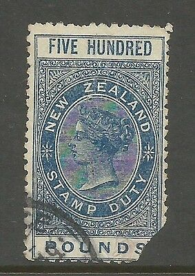 NEW ZEALAND 1880's + GBP500 stamp duty-used