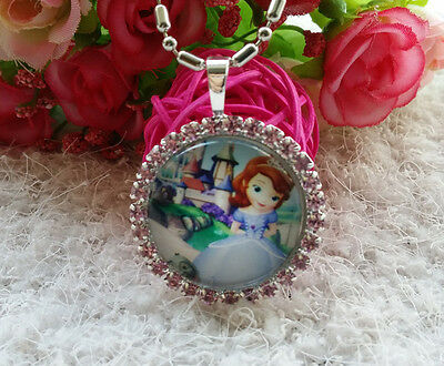 Disney Sofia the First Princess Chain Pendant Necklace Kid baby Girl Christmas S