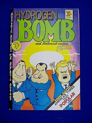 Hydrogen Bomb Funnies 1.2nd printing  underground  VFN. Crumb, Shelton, Irons