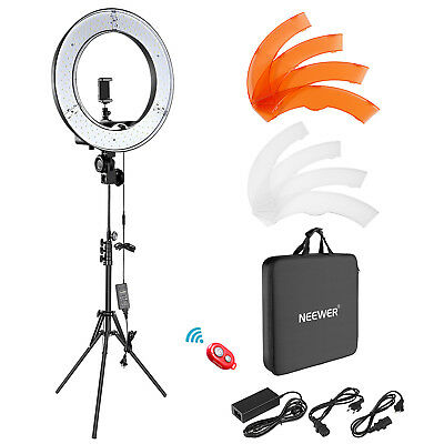 "Neewer 18"" 55W 5500K LED SMD Dimmable Ring Video Lightning Kit for Self-Portrait"