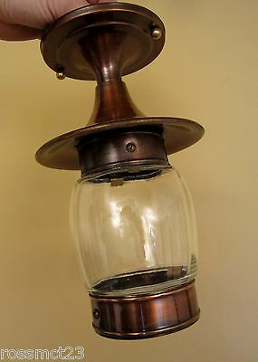 Vintage Lighting never used Mid Century foyer hall fixture   More Available