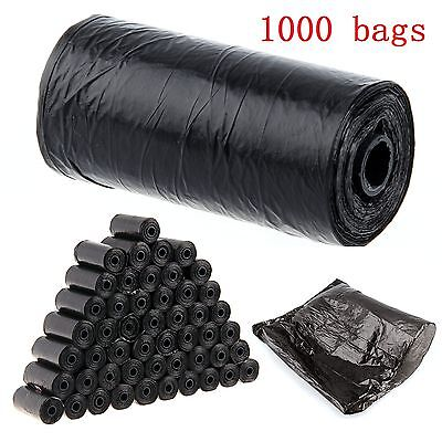 1000 Pet Waste Refill Bags Portable Dog Cat Doggy Poo Poop Pooper Scooper Toilet