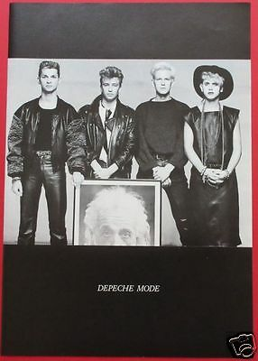 DEPECHE MODE Martin Gore Dave Gahan 1986 CLIPPING JAPAN MAGAZINE RS 1A