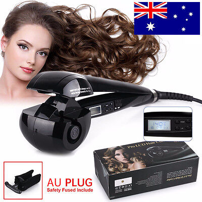 Professional LCD Curl Machine Electric Automatic Hair Curling Iron Styler AU