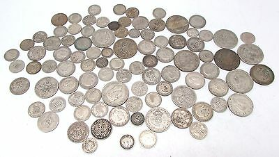 George V & George VI Mixed Denomination Pre 1947 Silver Circulated Coins - 460g