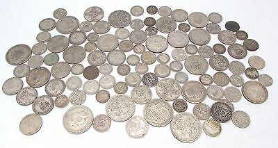 George V & George VI Mixed Denomination Pre 1947 Silver Circulated Coins - 490g
