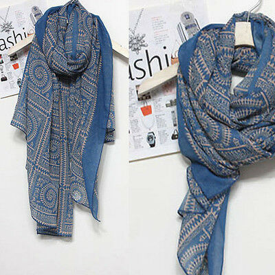 Women Ladies Soft Long Neck Printed Large Scarf Wrap Shawl Pashmina Stole Soft