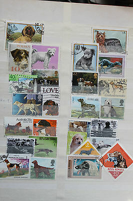 25+ Stamps - Dogs - Off Paper - Used # 935