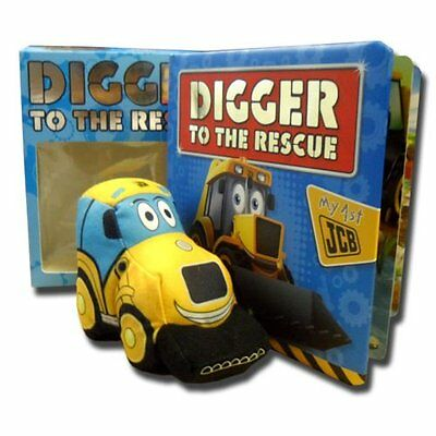 NEW BOX - JCB DIGGER TO THE RESCUE - BOOK and CUDDLY TOY JCB  my first JCB