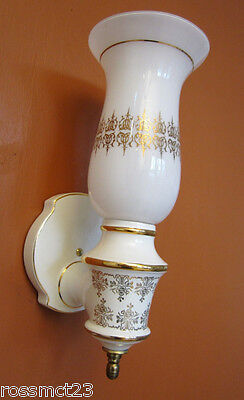 Vintage Sconces four large 1970s Hollywood Regency wall lights   More Available